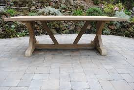 teak trestle dining table tuscany collection reclaimed teak trestle base table paradise teak