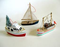 sold 3 miniature wood boat ornaments yacht sail boat and