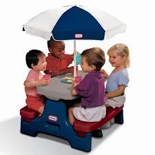 little tikes easy store jr picnic table endless adventures easy store jr play table with umbrella little