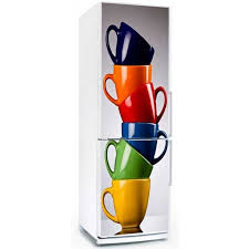 stickers porte cuisine sticker frigo tasses adhésif décoratif sticker autocollant pour
