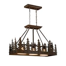 Kitchen Island Lights by Shop Cascadia Lighting Yosemite 14 5 In W 3 Light Burnished Bronze