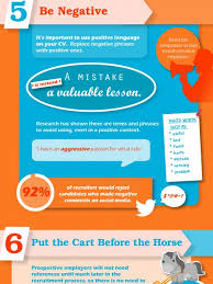 What Not To Put On A Resume Resume Mistakes Infographics Visual Ly