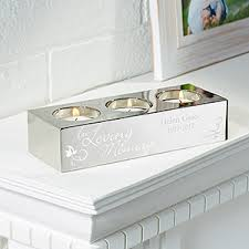 memorial tea light candle holder personalized memorial 3 tea light candle holder in loving memory