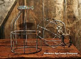 wire light bulb cage industrial antiqued wire cage guard light l
