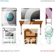 household furniture cartoon of household furniture electonics and appliances 2