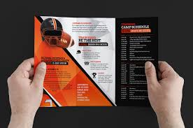 tri fold brochure ai template football c trifold brochure template for photoshop illustrator