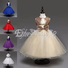 pageant flower girls dress kids birthday wedding bridesmaid gown