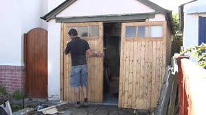 wooden garage door makers youtube