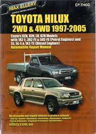 workshop manual for honda jazz toyota hilux petrol diesel 1997 2005 ellery service repair manual