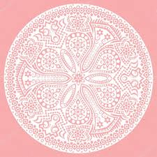 pink invitation card vintage invitation card on pink background with lace ornament