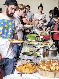 students continue thanksgiving tradition news brenhambanner
