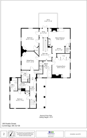 center hall colonial floor plans 168 brattle street cambridge