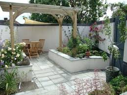 Garden And Patio Designs Small Garden Patio Ideas Techsolutionsql Club
