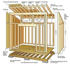 how to frame a floor 8x12 lean to shed plans 01 floor foundation wall frame carpentry