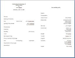 Wedding Program Templates Free Download 8 Best Images Of Microsoft Word Invitation Templates Free