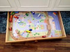 Kidkraft Train Table Natural 17851 Smart U0026 Stowable Diy Trundle Train Table U2014 Small Friendly
