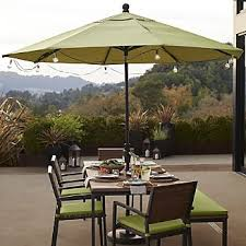 Patio Umbrella String Lights Outdoor Lighting String Lights And Lanterns Crate And Barrel
