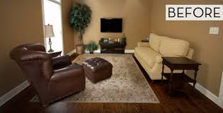family room makeover before and after 30 second family room makeover curbly