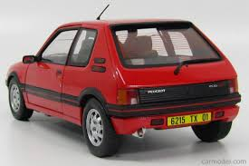 peugeot gti 1990 solido 8153 scale 1 18 peugeot 205 gti 1900 1990 red