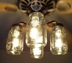 mason jar ceiling fan light kit only with new quarts