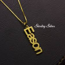 cheap name necklace personalized name necklace gold name plate necklace single