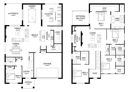 Floor Plan Two Storey by Dynasty 42 4 Double Level Floorplan By Kurmond Homes New