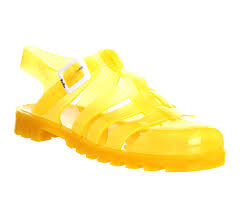 juju maxi low juju jelly uv orange sandals