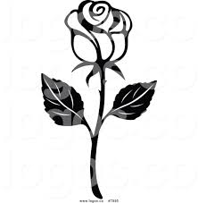 black and white rose clip art many interesting cliparts