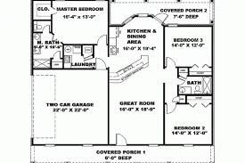 new american floor plans eplans new american house plan open floor plan 1500 open house