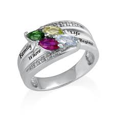 mothers ring with birthstones ring with birthstones mynamenecklace