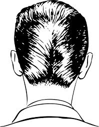 clipart d a haircut rear view