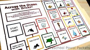 free printable preschool lego board game preschool powol packets
