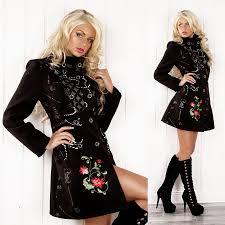 designer jacke damen patchwork mantel wintermantel trenchcoat designer jacke gr