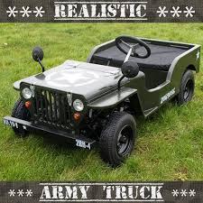 small jeep for kids premium 110cc realistic off road petrol kids army jeep boys crimbo