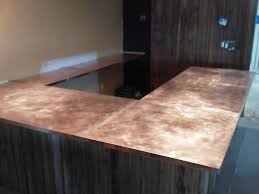 Copper Projects Nj Custom Copper Bar Tops Hammered Copper