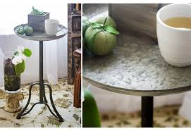 Industrial Accent Table Metal Side Table Metal Accent Table Round Metal Accent Table