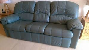 G Plan Leather Sofa G Plan Green Leather Sofa Condition In Arundel West Sussex