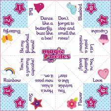 magic belles u2013 printable friendship game