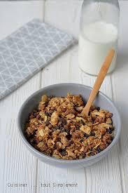 cuisiner maison granola amande chocolat fait maison cuisiner tout