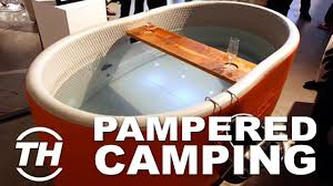 Collapsible Bathtub For Adults Top 4 Pampered Camping Products Inflatable Bathtubs Youtube
