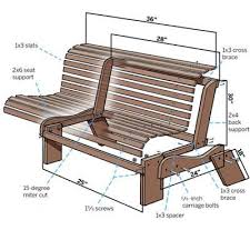 outdoor bench plans progressive