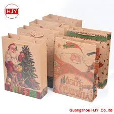 christmas kraft wrapping paper exquisite christmas kraft paper bag portable paper shopping bags