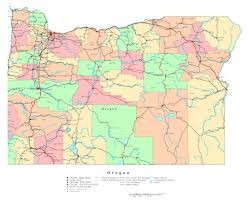 State Capitals Map Large Detailed Map Of Oregon State Oregon State Usa Maps Of
