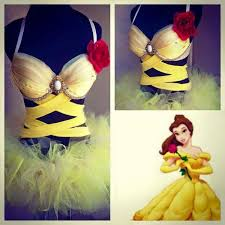 Sailor Mars Inspired Rave Wear Theme Wear Dance by Beauty And The Beast Belle Inspired Rave Bra U0026 Bottom Rave