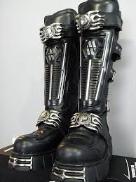 new motorcycle boots new rock boots by priteeboy on deviantart