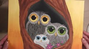 how to paint an owl family picture speed painting youtube