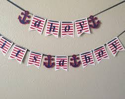 Nautical Themed Baby Shower Banner - ahoy its a boy etsy