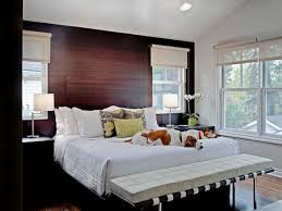 veneer wood bedroom accent wall idea of bright bedeoom with white