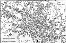 map of bologna italy bologna sketch map 1945