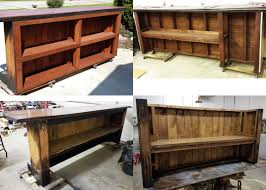 Rustic Reception Desk Custom Home Bar Hand Built Rustic Whiskey Pub Man Cave Barn
